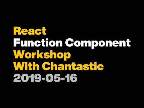 React Function Component Workshop