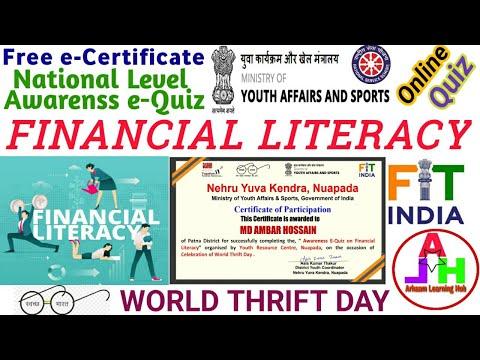 Financial Literacy Quiz | World Thrift Day Quiz | Financial Literacy ...