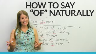 """How to pronounce """"OF"""" like a native English speaker"""