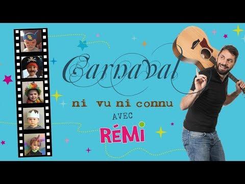 """Bande annonce du """"Carnaval ni vu ni connu"""" la nouvelle comptine de Rémi le chanteur des petits"""