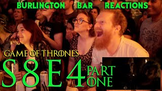 """Game Of Thrones // Burlington Bar Reactions // S8E4 """"The Last of the Starks"""" PART 1!!"""