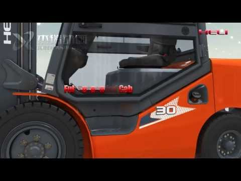 Giới thiệu xe nâng điện 4 bánh Heli CPD30 3 tấn