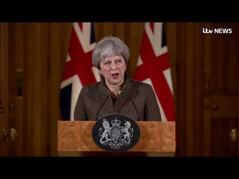 In full: Theresa May's statement after UK, US and France launch air strikes on Syria   ITV News