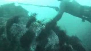 Pesca submarina en la rompiente-Galicia