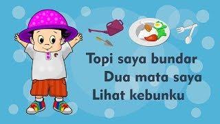 Gambar cover Topi Saya Bundar - Dua Mata Saya - Lihat Kebunku - Kumpulan Lagu Anak Indonesia Populer