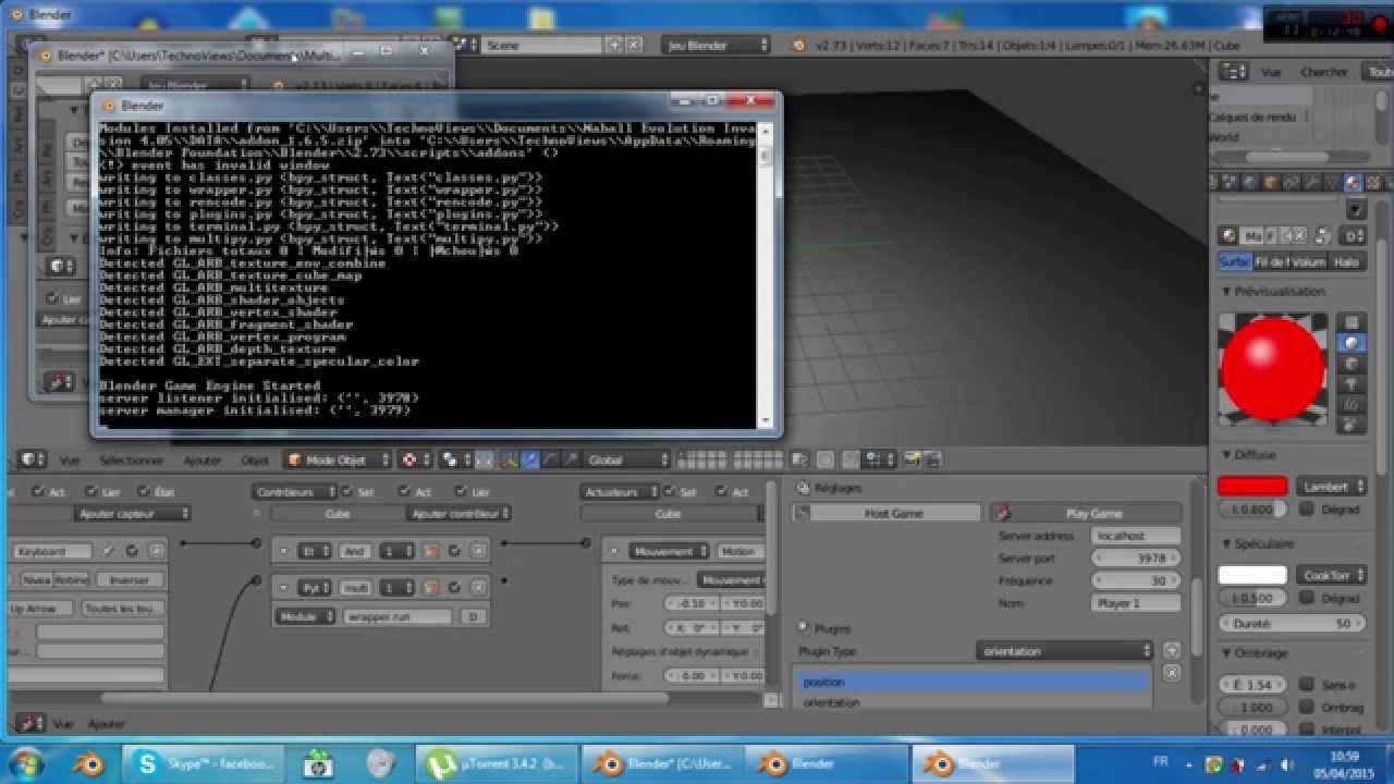 Tutoriel Multijoueur - Blender Game Engine [Partie 1]