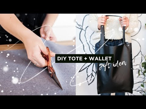 Gift idea for ANYONE: DIY Tote & Wallet