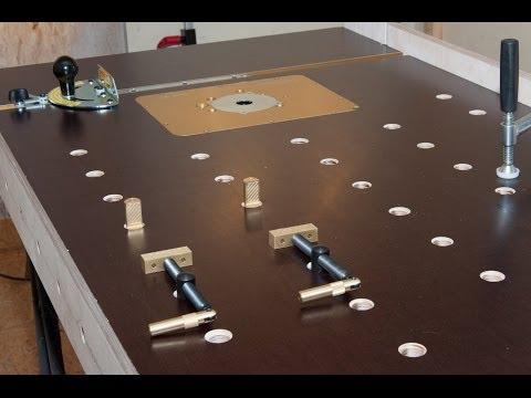 Multi-Werkbank / Frästisch / Multi-Funktions-Tisch selber bauen, Werkzeugschrank Eigenbau, Festool