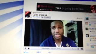 Dayo Okeniyi 1st Ustream
