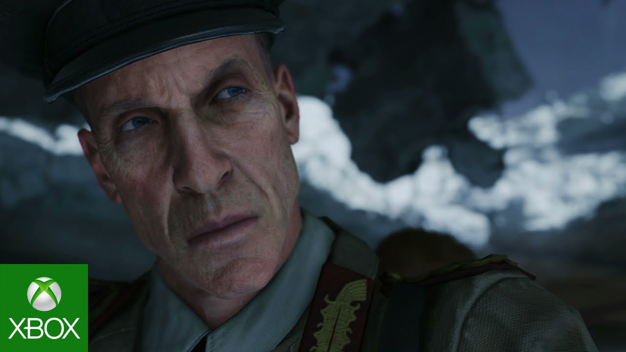 Close up of old nazi soldier face