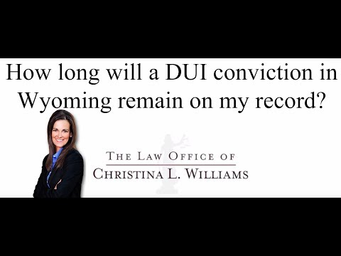 How long will a DUI convi…