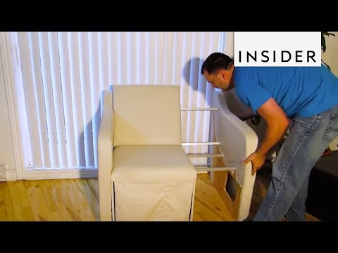 How A Sofa Shrinks Into A Loveseat And Chair