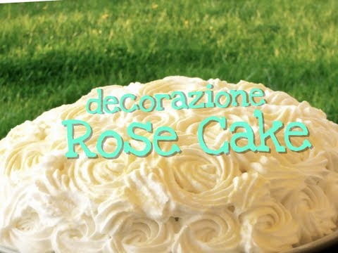 DECORAZIONE TORTA DI ROSE