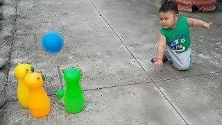 Trò Chơi Bowling Hình Con Sâu ❤ ChiChi Kids TV ❤ Đồ Chơi Trẻ Em