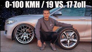 0-100 km/h Beschleunigung (Unterschied) zwischen 17 Zoll und 19 Zoll Räder!