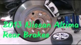 2012-2014  Nissan Altima Rear Brakes