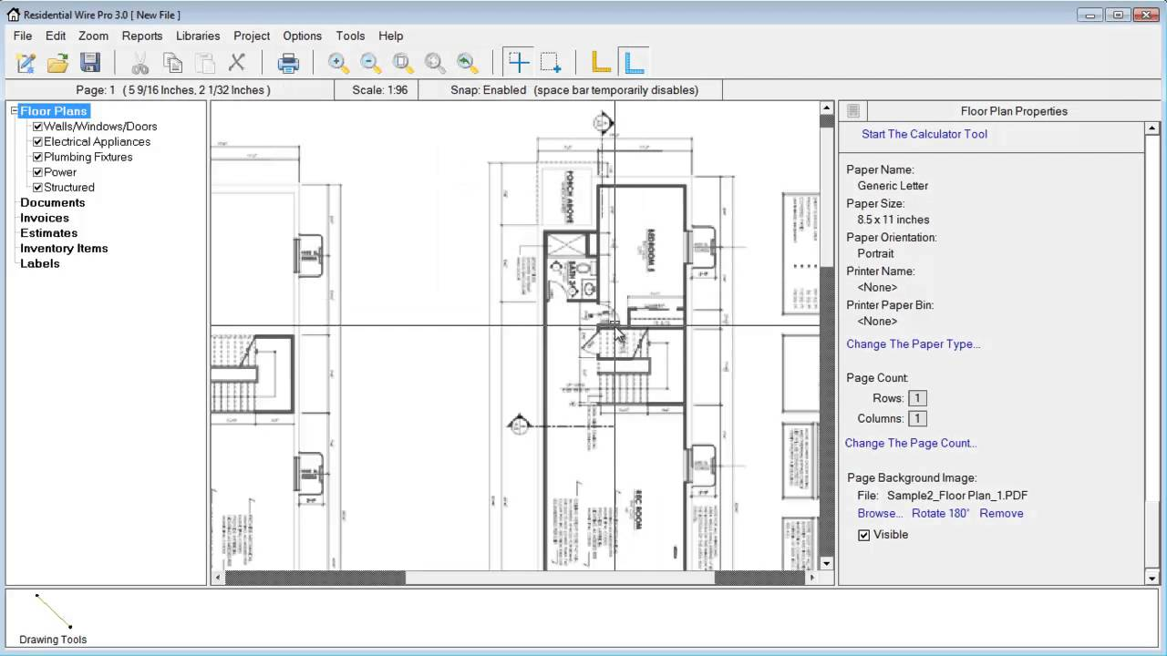 Residential Wire Pro Learning Center Diagram And Technical Data In A Pdf File Of The Electrical Set Resolution Settings On Your Imported Floor Plans These Can Help Make Files Have More Detail When Setting Higher