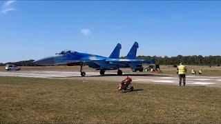 Украинский истребитель Су-27 сдул людей на авиашоу в Бельгии
