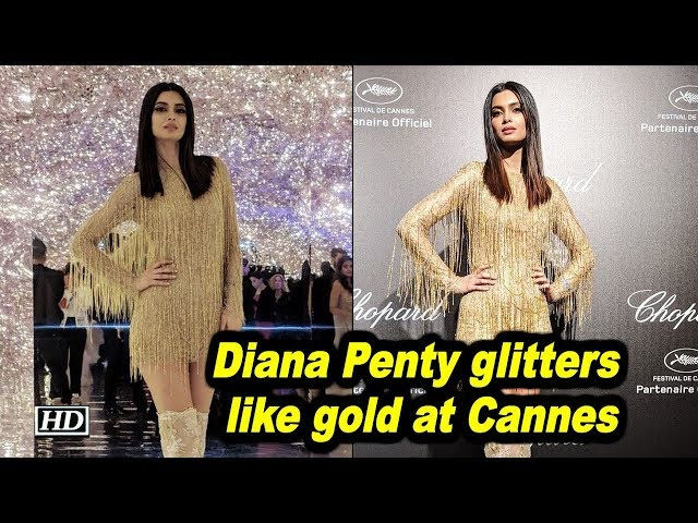 Diana Penty glitters like gold at Cannes