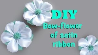 DIY bow-flower of satin ribbon / kanzashi