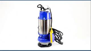 Submersible Electric Sump Pump - 98 FT (30 M) @ 42 GPM (9.5 m3/H) - Single Phase - 1.5 HP