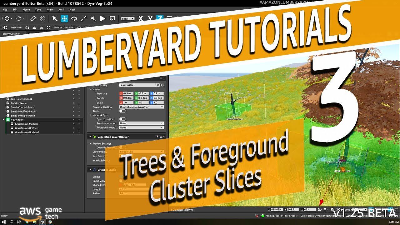 Making a Tree Cluster in Dynamic Vegetation System  | Lumberyard Tutorial 2020.24