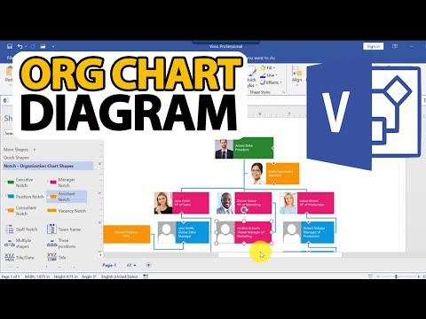 How To Draw Visio Org Chart Diagram (Step by Step Tutorial ...