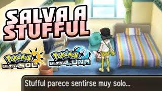 Stufful  - (Pokémon) - SALVA AL STUFFUL ABANDONADO DEL MOTEL DE LA RUTA 13! EASTER EGG POKÉMON ULTRASOL Y ULTRALUNA