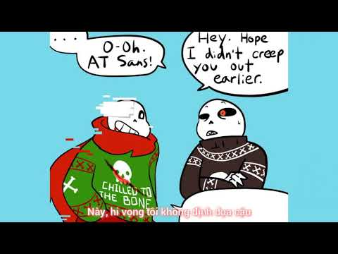 Christmas Party Au Comic.Christmas Party Au Part 5 Vietsub The One Where Fell Sans
