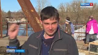 Резкий подъём воды начался в реке Медведица