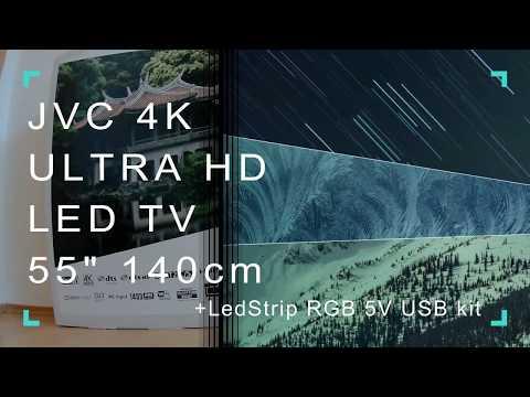 JVC  LT-55VU72K 4K ULTRA HD LED TV+LED Strip Lighting RGB 5V USB Kit