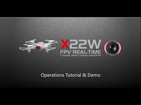 Обзор квадрокоптера SYMA X22W