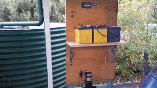 Off grid solar power - 12V pressure pump