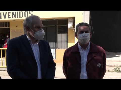 Video: El ministro de Educación en El Galpón supervisó avances en la presencialidad