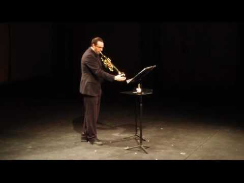 """This is Friedman's unaccompanied piece """"Solus"""" I played a few years ago at UW-Platteville's faculty showcase recital."""
