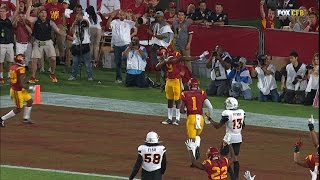 Highlights: JuJu Smith-Schuster records three touchdowns, dabs in win over ASU