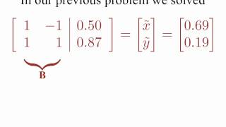 A beginning discussion of how to change coordinates of vectors.