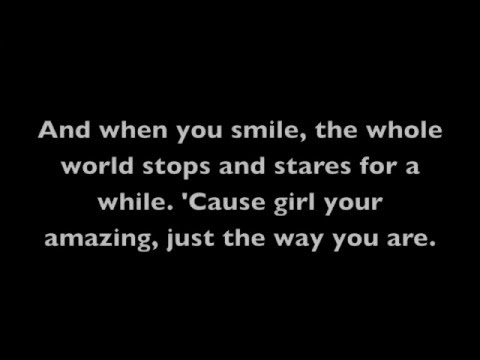 Just The Way You Are- Bruno Mars (Lyrics on Screen) mp3