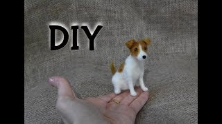 NEEDLE FELTING JACK RUSSELL - DOG - TUTORIAL