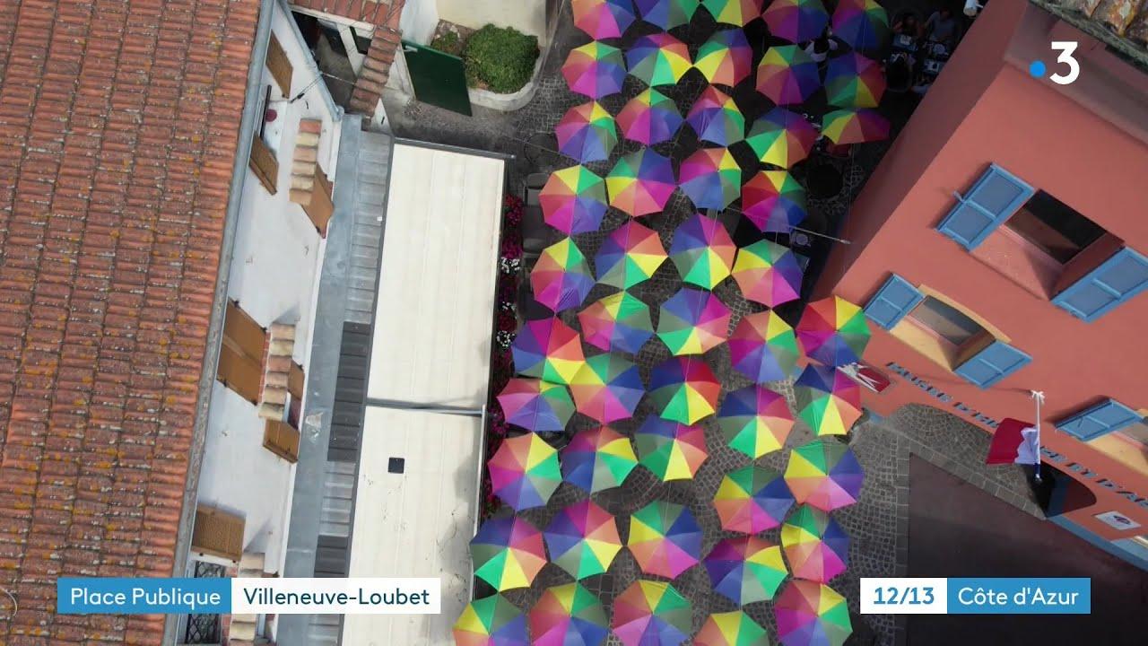 Place Publique Villeneuve-Loubet : un village provençal
