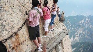 World's Most Dangerous Hiking Trail on Mount Huashan