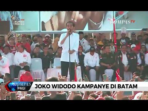 Kampanye di Kepri, Jokowi Minta Warga Waspada pada Berita Hoaks