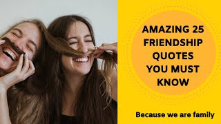 Cute 25 Friendship Quotes - Heart Touching Friends Quote 2020