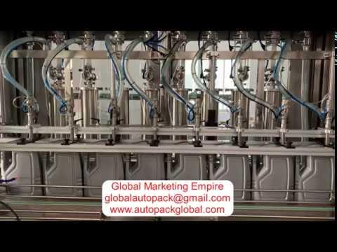 12 Head Lubricants Oil Filling Machine