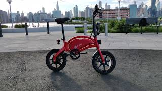 DYU D3+ Electric bike first impressions in NYC (Ferrari Red)