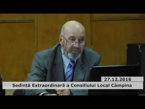 Ședința extraordinară a Consiliului Local Câmpina – 27 decembrie 2016