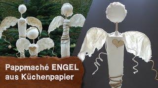 DIY - Pappmaché Engel Aus Küchenpapier - Bastelidee