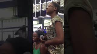 Young Lady Sing For Chronixx In Guyana She Is Talented