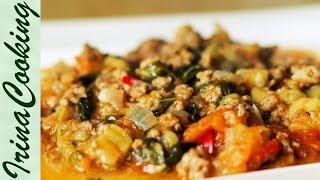 Подлива с Мясным Фаршем и Овощами 🍆. Как БЫСТРО приготовить Вкусную Мясную Подливу ✧ Ирина Кукинг