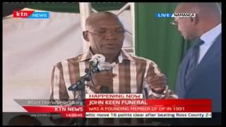 Senator Bonny Khalwale makes his remarks at John Keen's funeral
